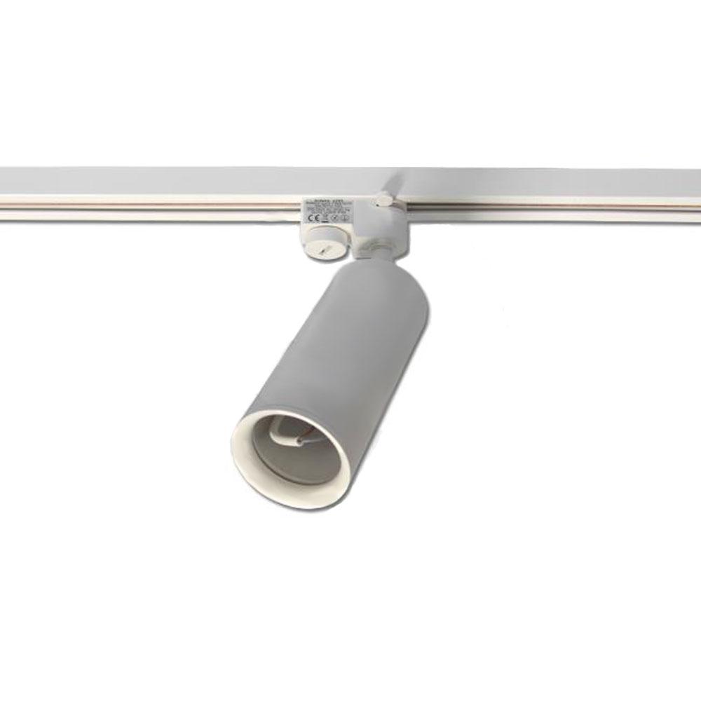 1-fase rails railspot wit - GU10 fitting - vooraanzicht
