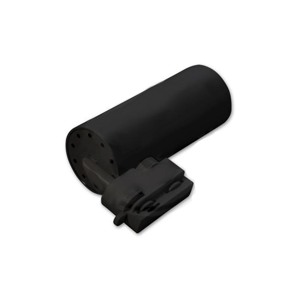 LED 1 - fase railspot zwart - gu 10 fitting - liggend