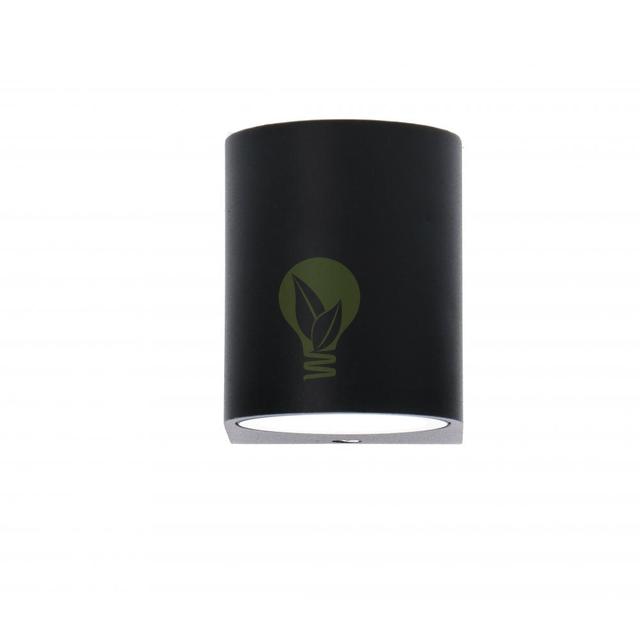 Buiten spot wandlamp met GU10 fitting zwart - voorkant