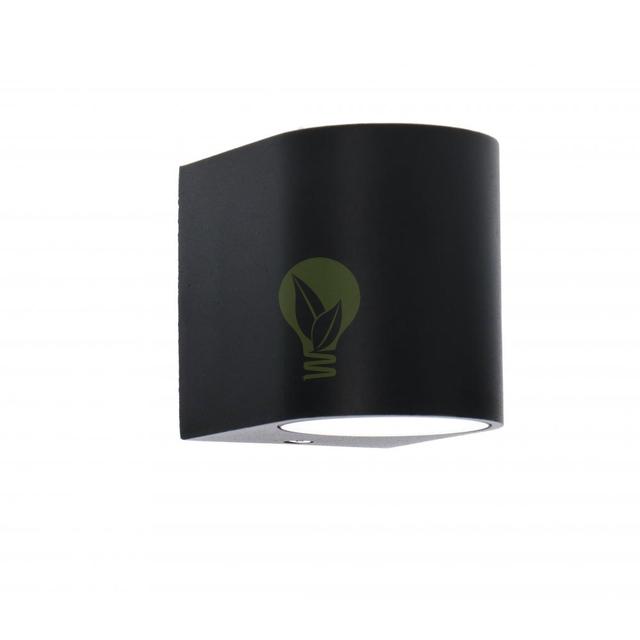 Buiten spot wandlamp met GU10 fitting zwart - zijkant