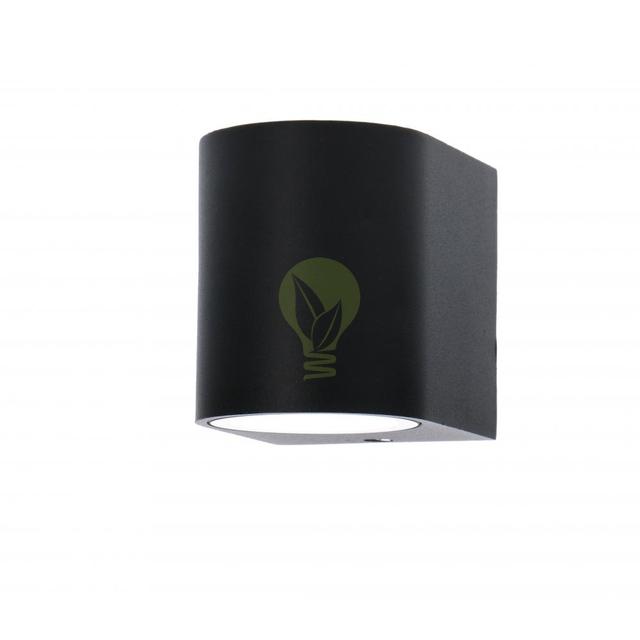 Buiten spot wandlamp met GU10 fitting zwart - zijaanzicht