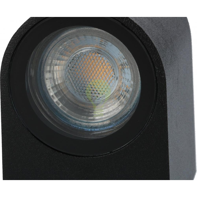 Buiten spot wandlamp met GU10 fitting zwart - onderkant
