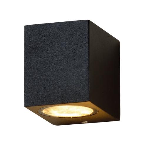 LED GU10 buiten spot zwart san diego - voorkant