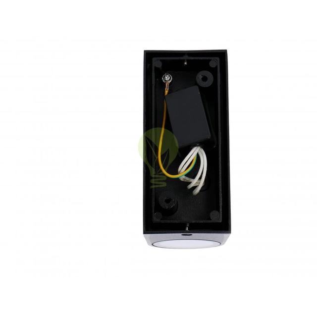 LED Wandlamp voor buiten Up & Down zwart 2x GU10 fitting - achterkant