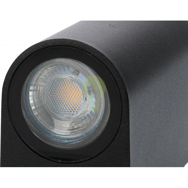 LED Wandlamp voor buiten Up & Down zwart 2x GU10 fitting - onderkant