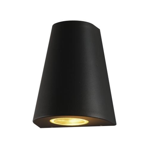 LED Wandlamp - 2x GU10 fitting - IP44 - Wand spot buiten zwart