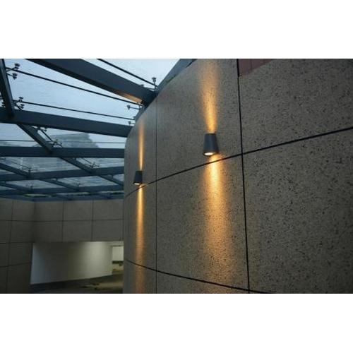 LED Wandlamp 2x GU10 fitting voor GU10 spots zwart - sfeerfoto