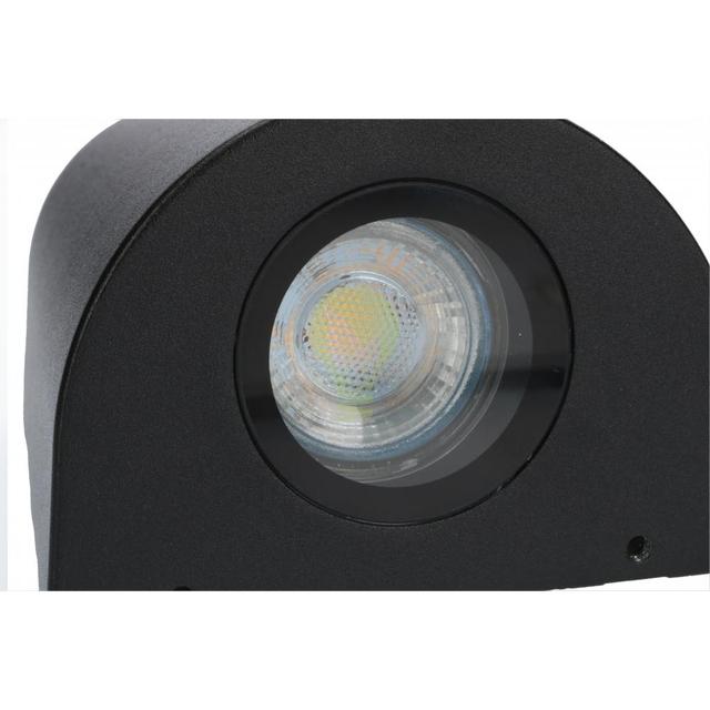 LED Wandlamp 2x GU10 fitting voor GU10 spots zwart - onderkant
