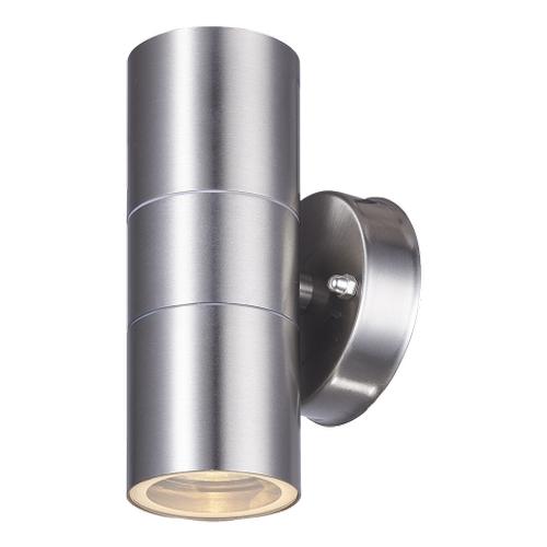 LED wandlamp - met gu10 fitting - IP44 - geschikt voor 2 GU10 spots aluminium