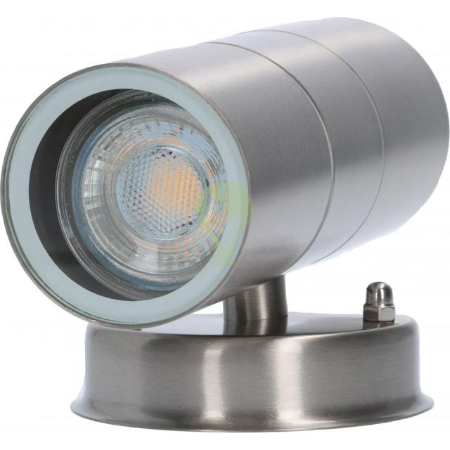 LED wandlamp - met gu10 fitting - IP44 - geschikt voor 2 GU10 spots aluminium - onderkant