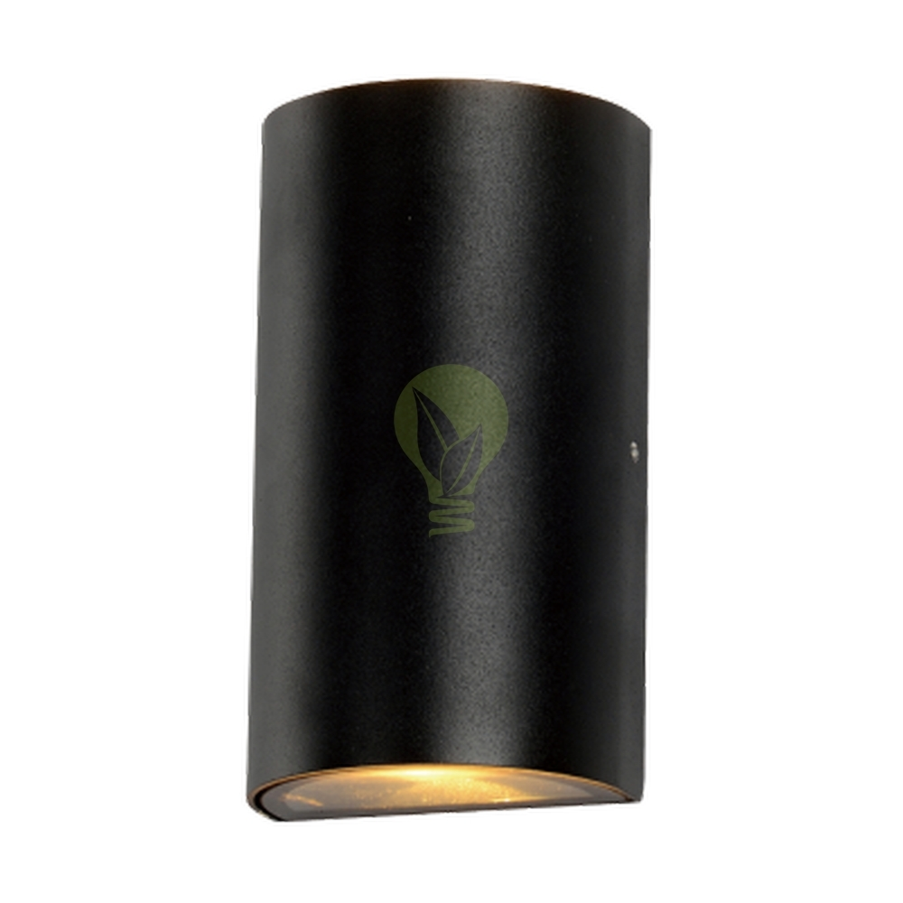 2x GU10 wandspot up & down - antraciet
