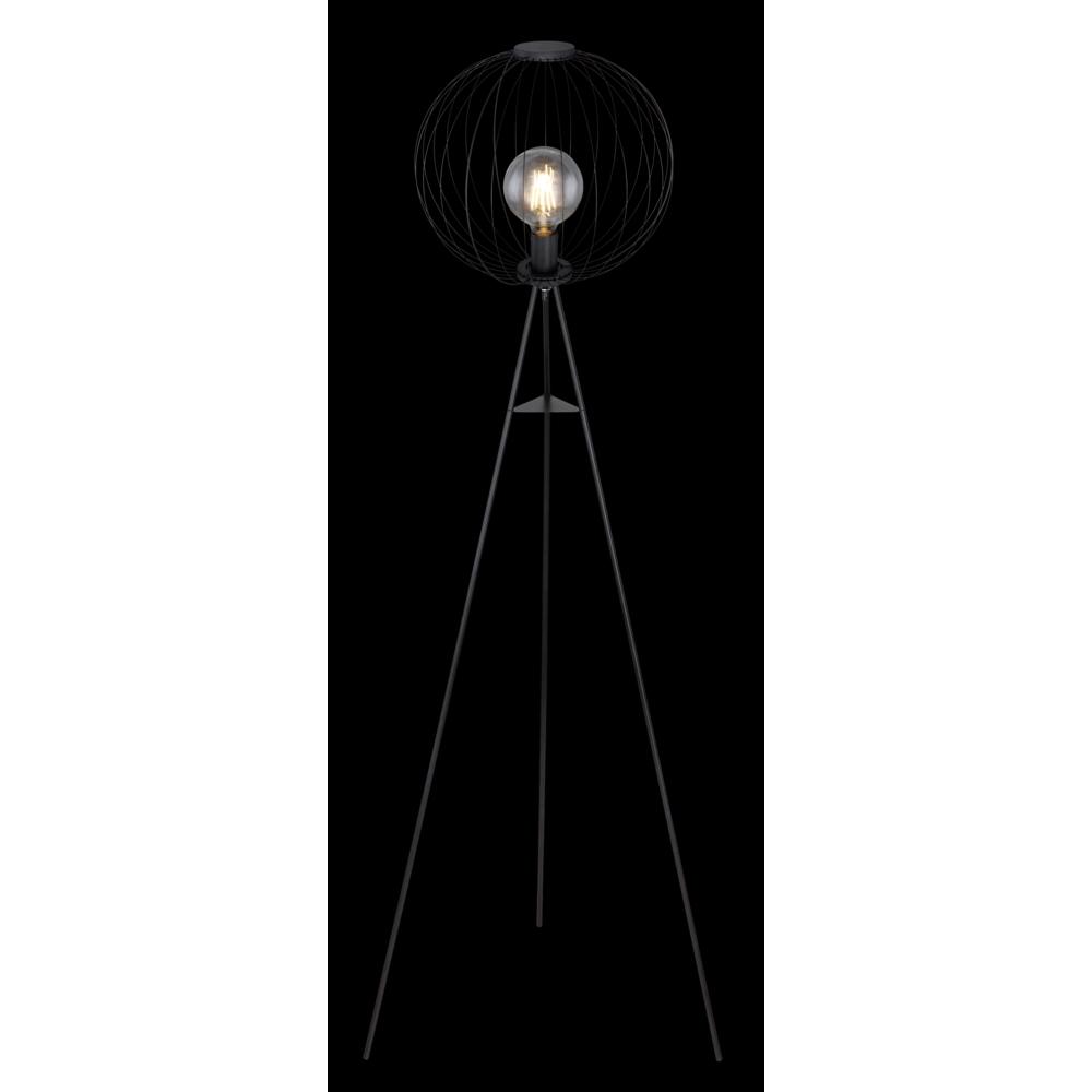Led Moderne vloerlamp metaal E27 fitting - donker