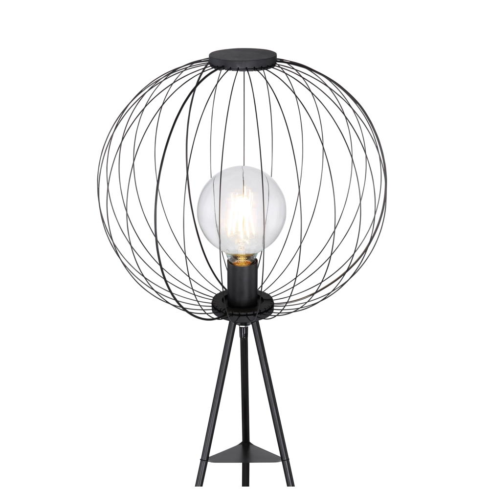 Led Moderne vloerlamp metaal E27 fitting - lampenkap
