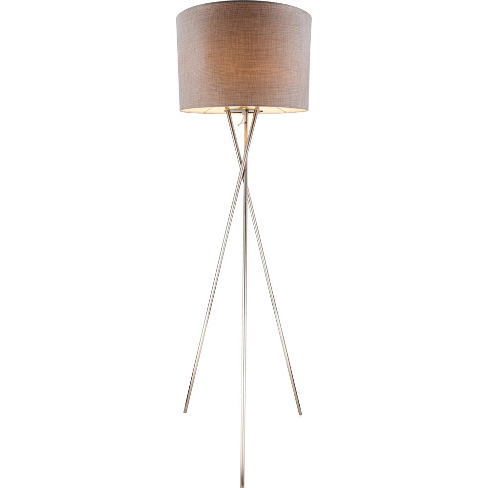 LED vloerlamp 160 cm hoog E27 fitting Grijs - vooraanzicht