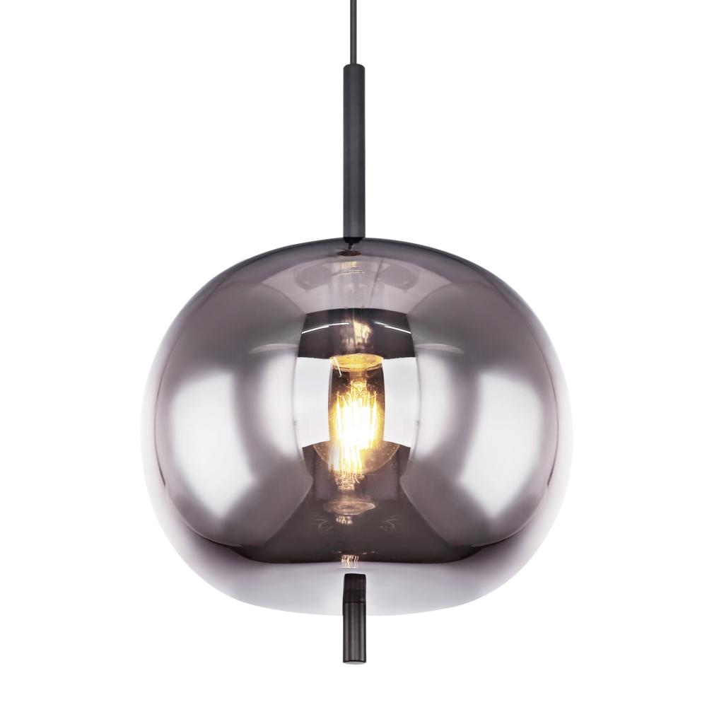Moderne glazen hanglamp gerookt E27 fitting - lampenkap