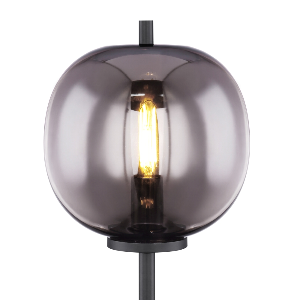 LED Moderne Tafellamp smoke glas E27 fitting - lampenkap