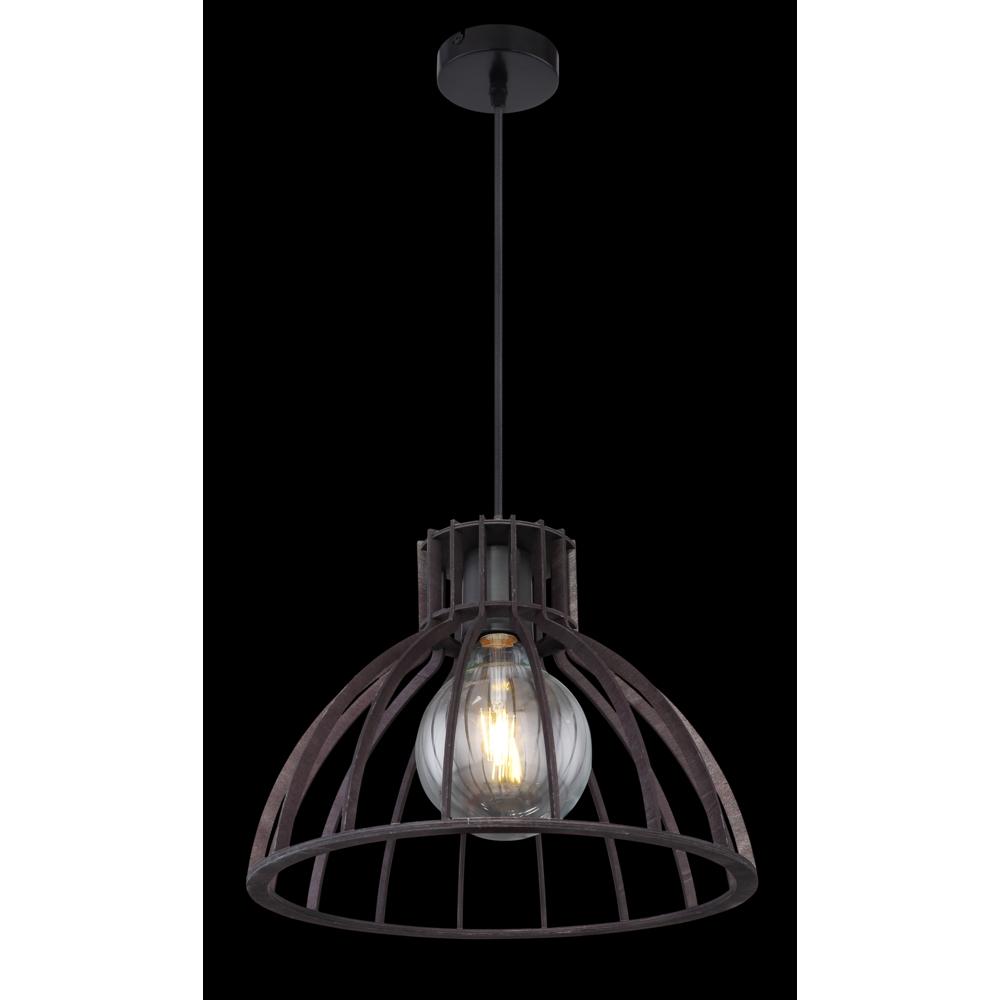 LED industriële hanglamp zwart metaal - donkere achtergrond