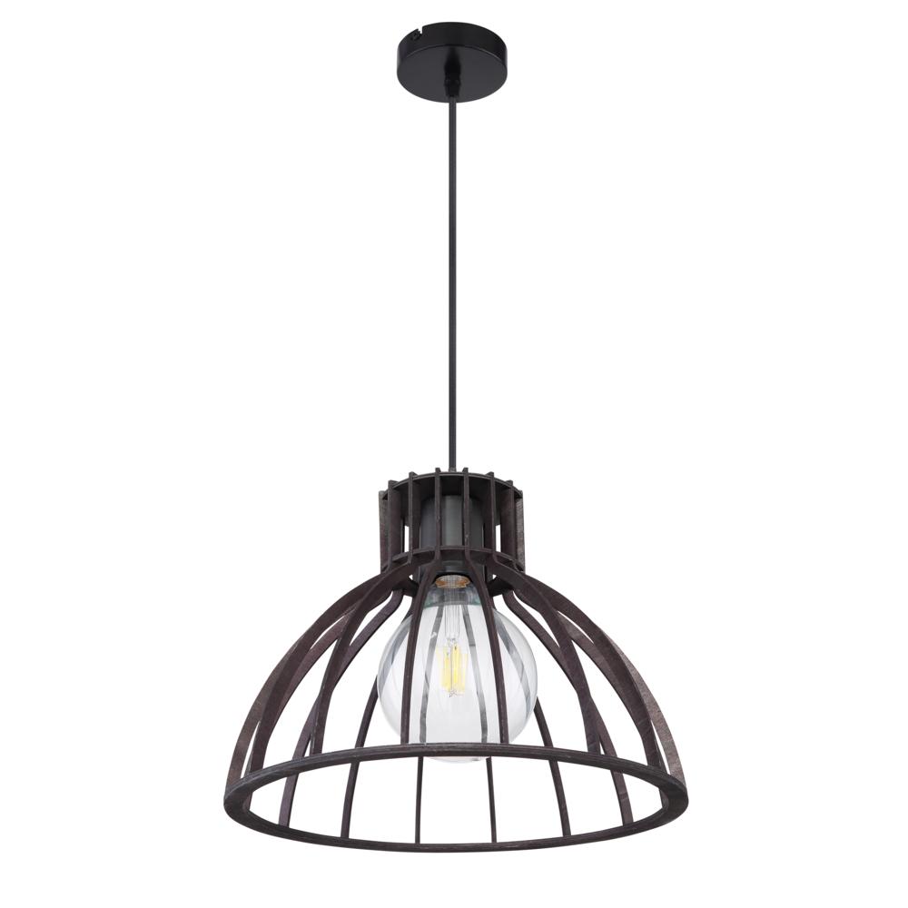 LED industriële hanglamp zwart metaal - vooraanzicht lamp uit
