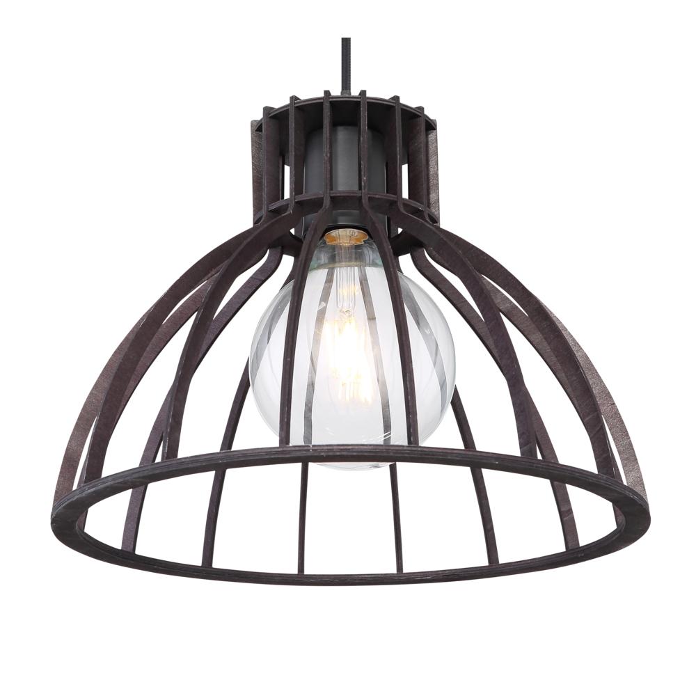 LED industriële hanglamp zwart metaal - lampenkap