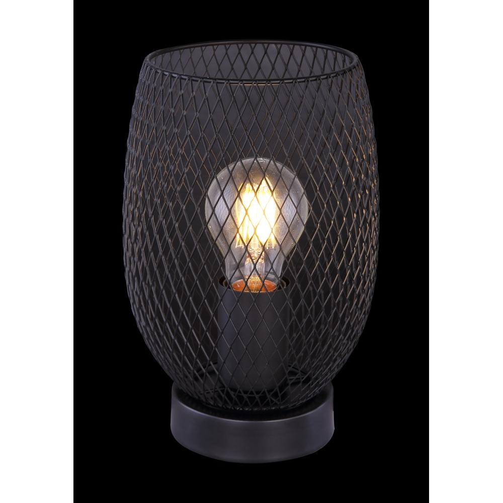 LED metalen tafellamp modern zwart - zwarte achtergrond