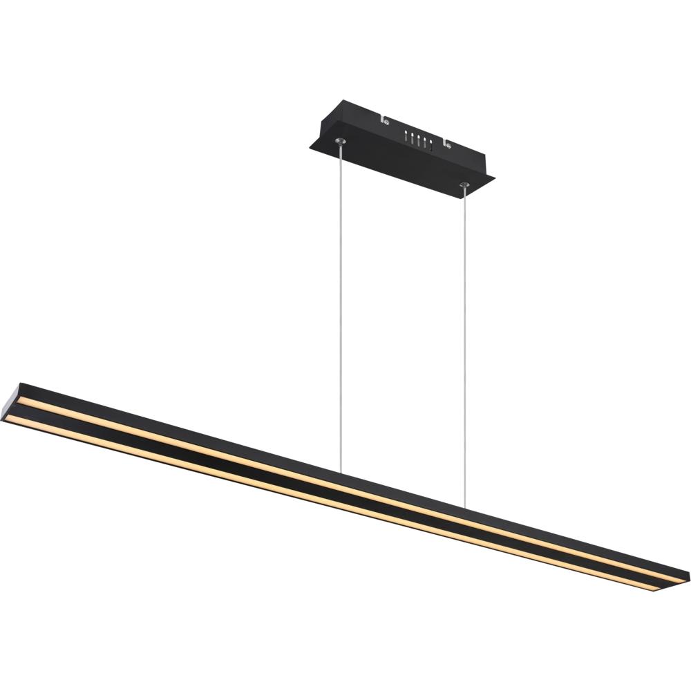 kantoorlamp hanglamp lineair geïntegreerde lamp - zijaanzicht lamp aan
