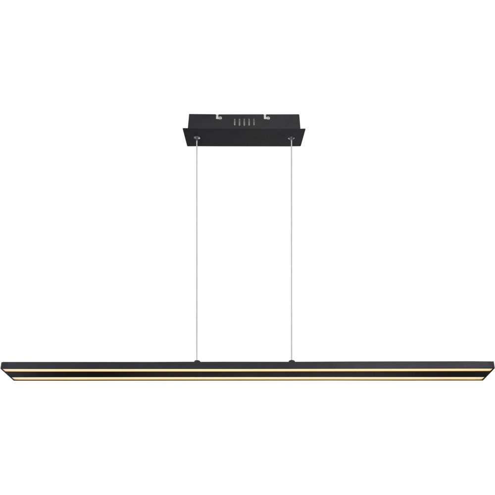 kantoorlamp hanglamp lineair geïntegreerde lamp - vooraanzicht lamp aan