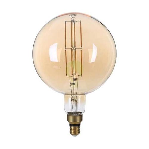 LED filament dimbare lamp 8 Watt grote fitting E27 goud glas 1800K Extra warm wit - dimbare lamp