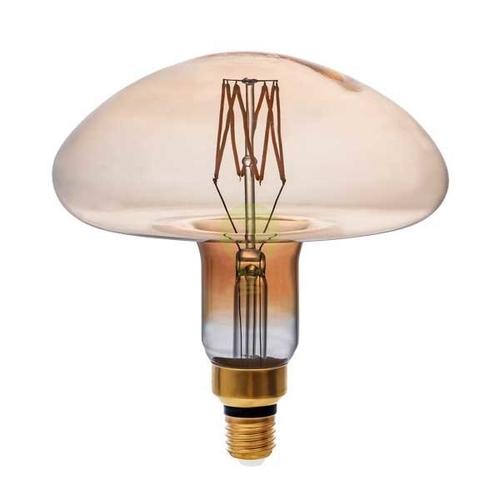 LED Filament dimbare lamp goud glas 8 Watt grot fitting E27 paddenstoel vorm 1800K Extra warm wit - dimbare lamp