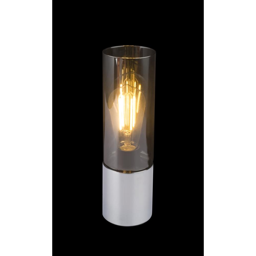 LED tafellamp chroom glas - modern - zwarte achtergrond