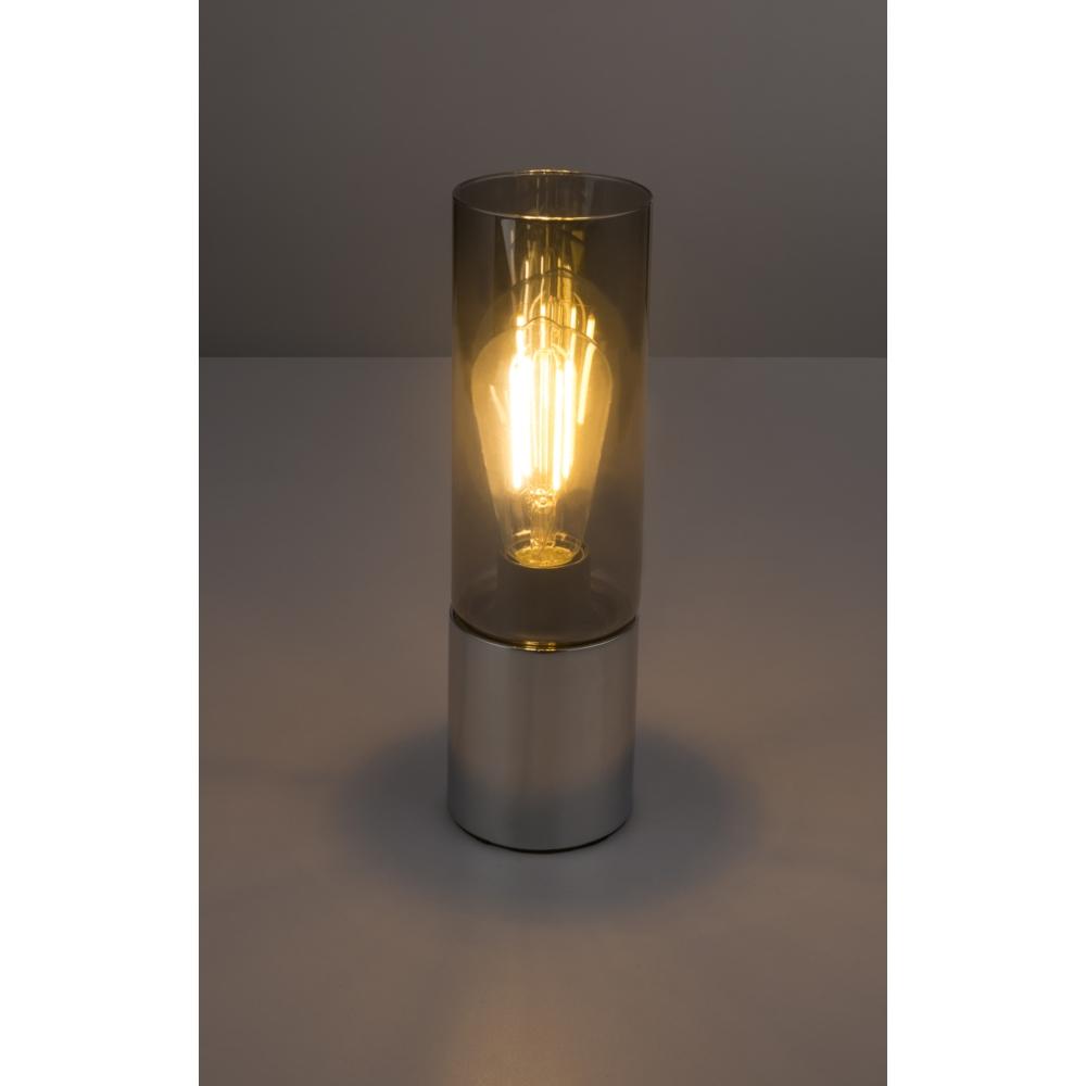 LED tafellamp chroom glas - modern - donkere sfeerfoto