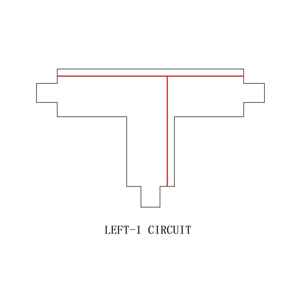 3-fase T stuk - T connector - LEFT-1 circuit