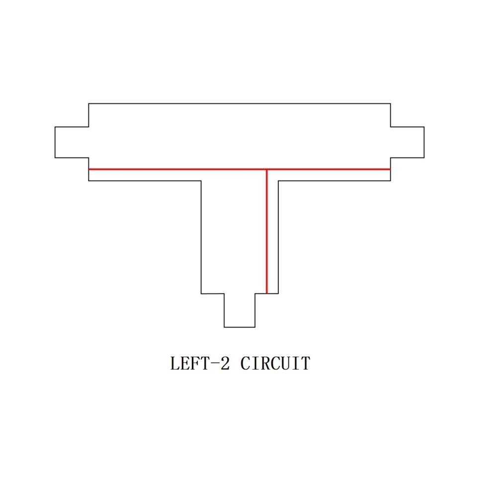 3-fase T stuk - T connector - LEFT-2 circuit