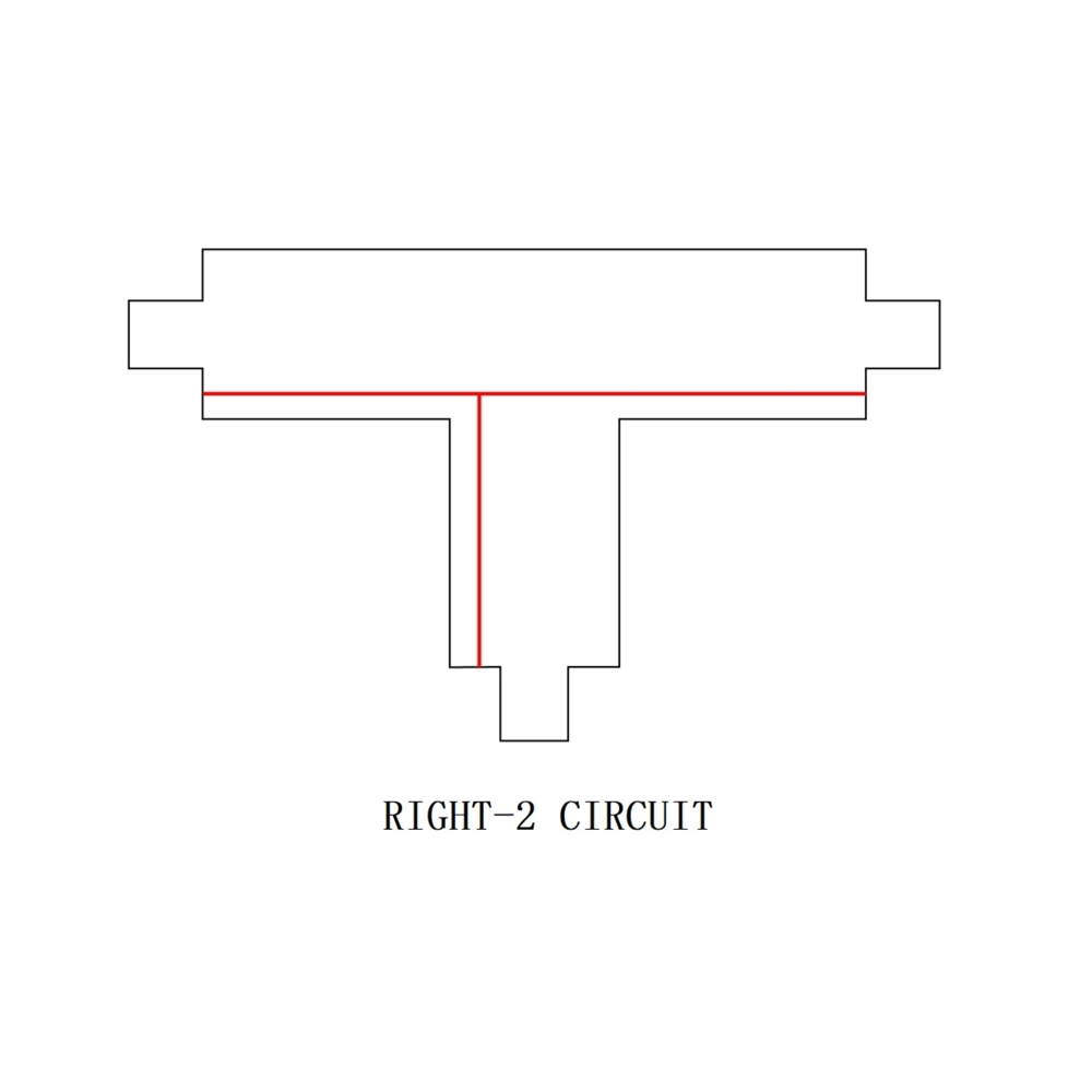 3-fase T stuk - T connector - RIGHT-2 circuit