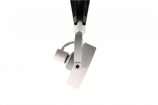 3-fase railspot armatuur voor AR111 spot wit - zijkant