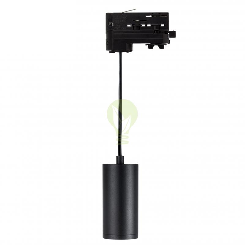 3-fase hanglamp zwart met gu10 fitting