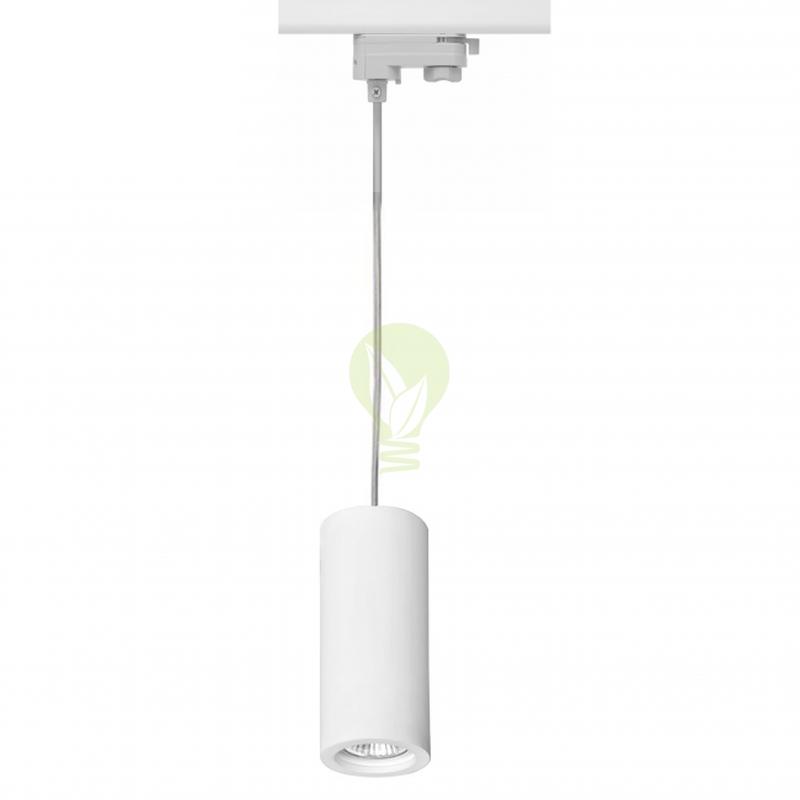 3-fase hanglamp met gu10 fitting wit