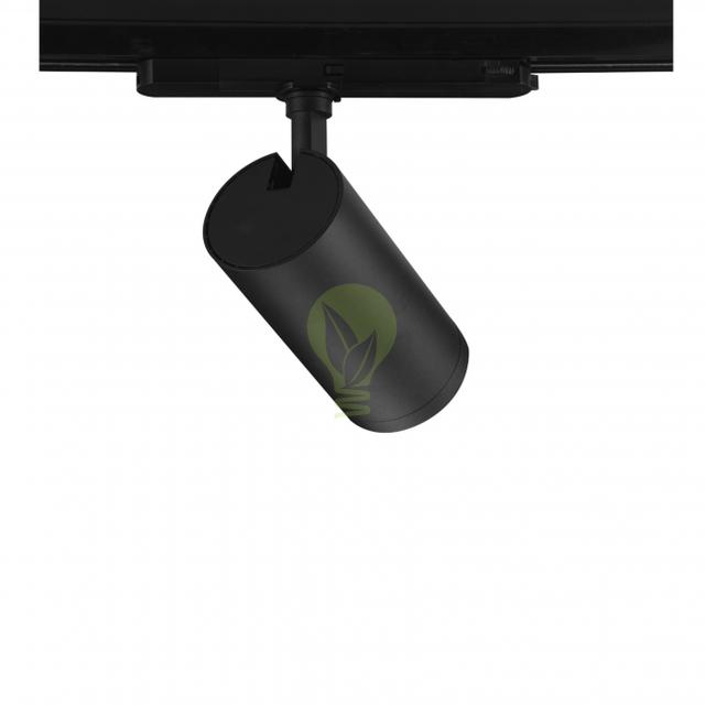 3-fase rail spot zwart 40 watt torino - achterkant
