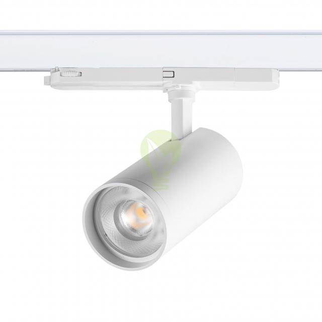 3-fase rail spot wit 40 watt torino - voorkant