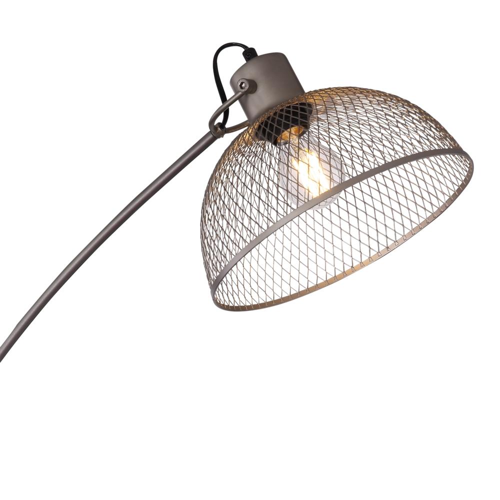 Led moderne vloerlamp E27 fitting chroom - lampenkap