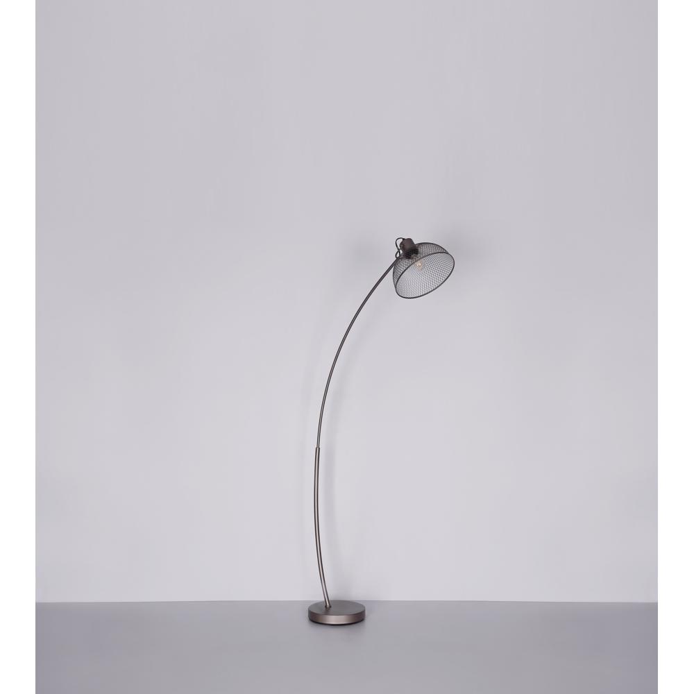 Led moderne vloerlamp E27 fitting chroom - sfeerfoto lamp uit