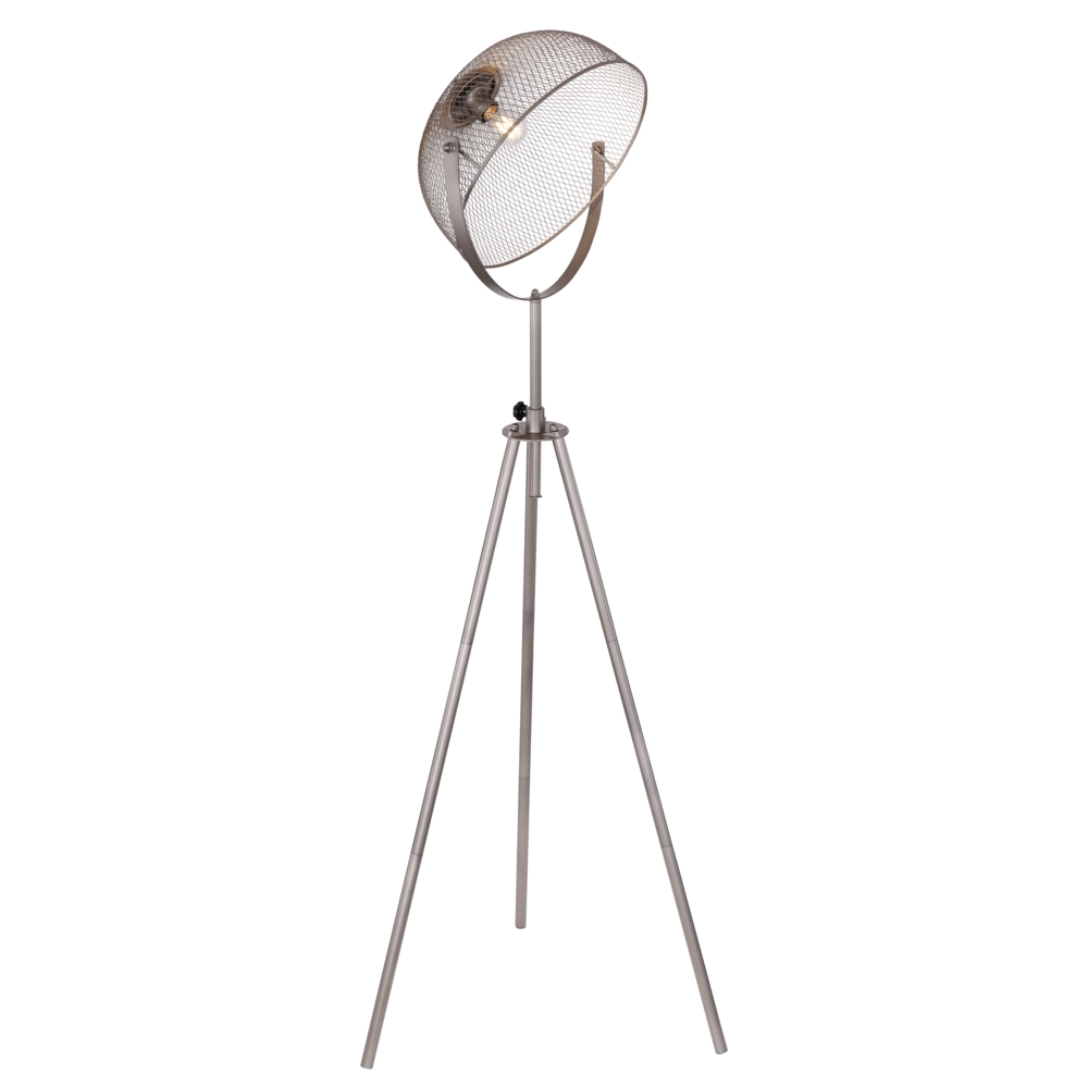 Vloerlamp modern chroom E27 fitting staande lamp - zijaanzicht