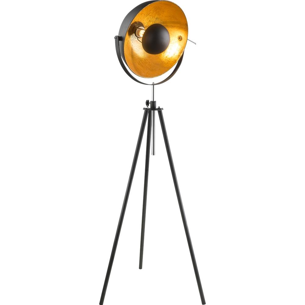 LED Vloerlamp Goud / Zwart E27 fitting modern - vooraanzicht