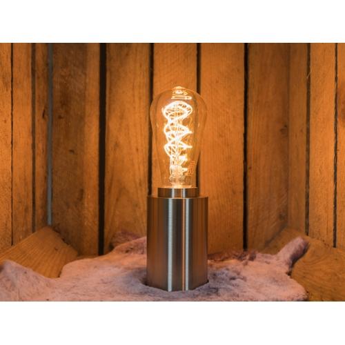 LED Dimbare FIlament lamp 5 Watt ST64 grote fitting E27 2200K extra warm wit - sfeerfoto interieur