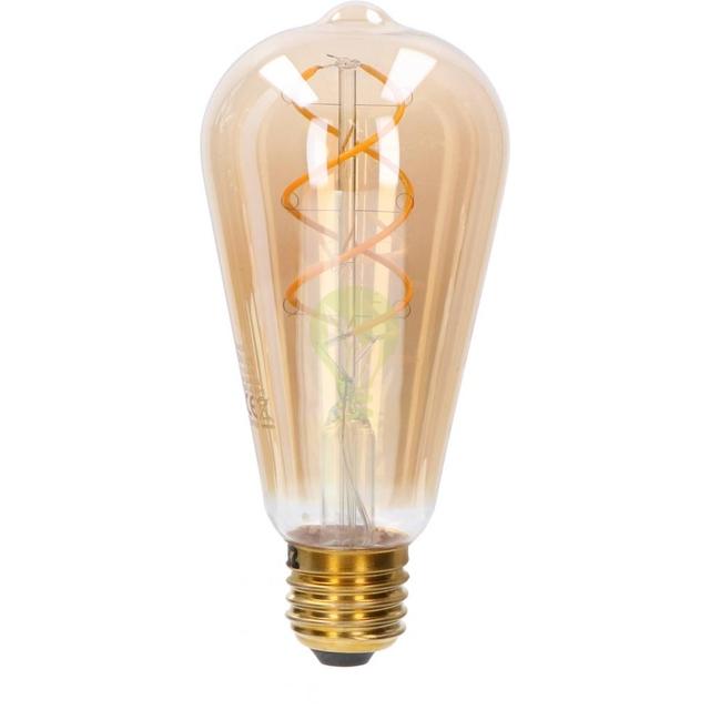 LED Dimbare FIlament lamp 5 Watt ST64 grote fitting E27 2200K extra warm wit - lamp