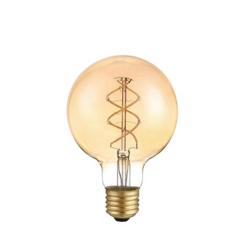 LED dimbare filament lamp globe G95 5 Watt grote fitting E27 2200K Extra Warm wit - lamp
