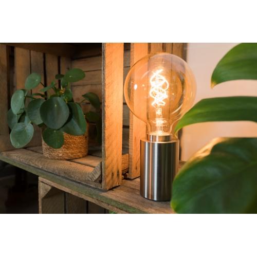 LED Filament Globe lamp dimbaar 5 Watt G125 2200K Extra warm wit - lamp aan inrichting