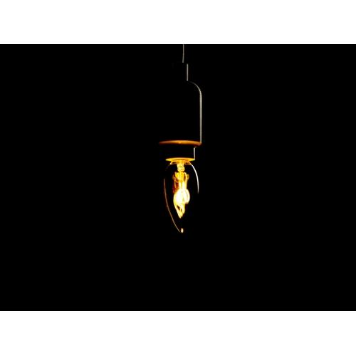 Sfeerfoto filament kaarslamp 2200K extra warm wit3 Watt