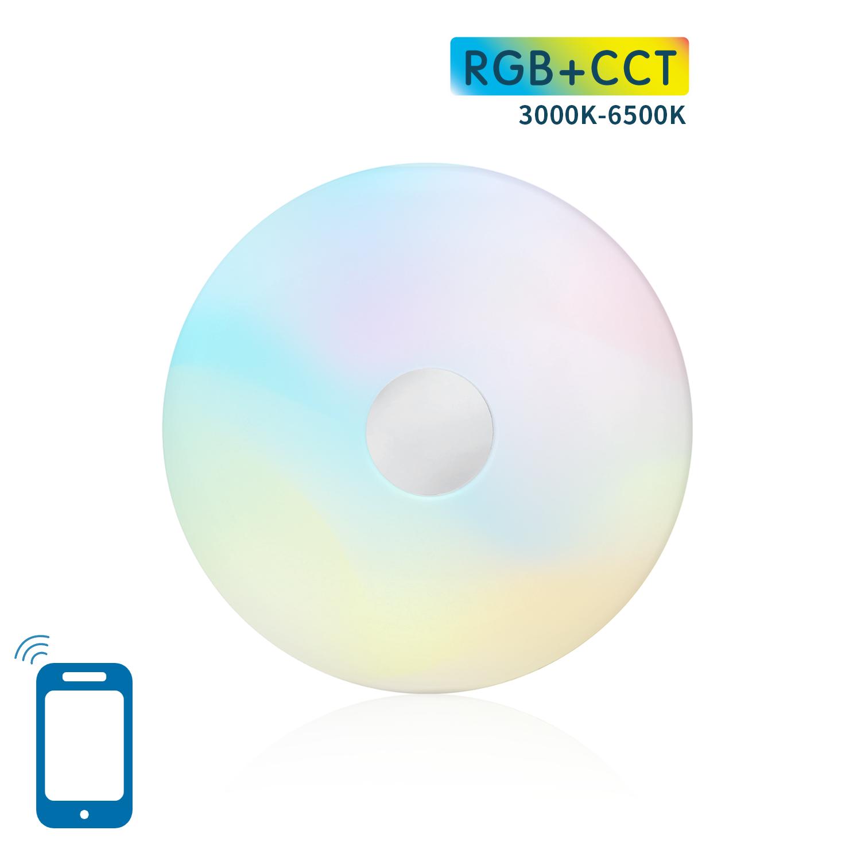 WiFi app besturing - WiFi plafondlamp dimbaar - RGB+CCT - vooraanzicht