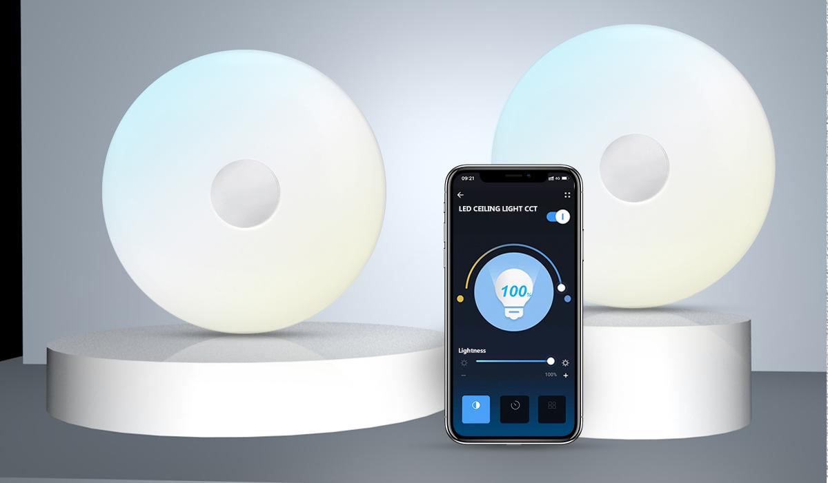 WiFi app besturing - WiFi plafondlamp dimbaar - RGB+CCT