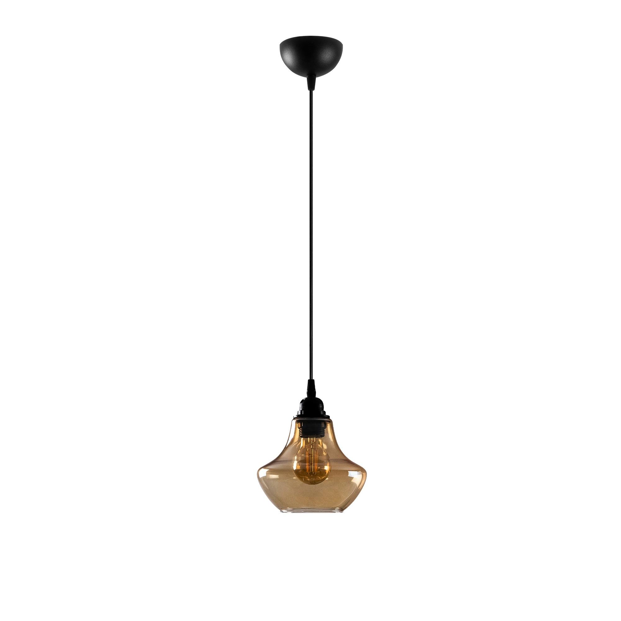 gouden hanglamp e27 fitting-Moroni - vooraanzicht lamp uit